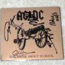 AC/DC  signed   AUTOGRAPHED   about/rock   Cd  Cover   *PROOF