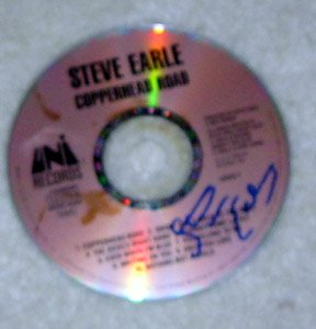 STEVE EARLE  autographed  SIGNED  #1  Cd
