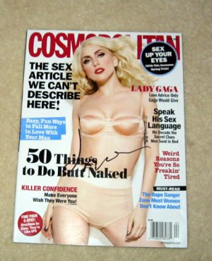 LADY GAGA   autographed  SIGNED   SeXy   MAGAZINE       *proof
