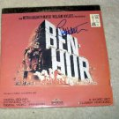 CHARLTON HESTON    ben - hur     AUTOGRAPHED    signed    LASER DISC         *proof