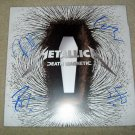 METALLICA  autographed  SIGNED  new RECORD !