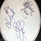 RED HOT CHILI PEPPERS  autographed  SIGNED  new  DRUMHEAD  * proof
