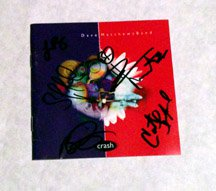 DAVE MATTHEWS BAND w/ leroy SIGNED autographed CRASH cd COVER