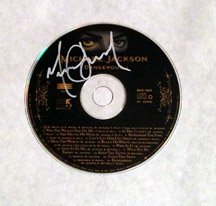 MICHAEL JACKSON  signed  AUTOGRAPHED  #1  CD