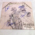 "METALLICA   signed  AUTOGRAPHED "" Justice ""  RECORD album"