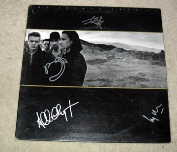 U2     Autographed   SIGNED  #1   RECORD     album     * Proof