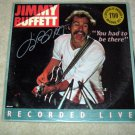 JIMMY BUFFETT  Autographed   SIGNED  Live    RECORD     album     * Proof