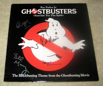 GHOSTBUSTERS    Autographed   SIGNED  #1   RECORD     album     * Proof