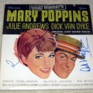 MARY POPPINS   julia andrews & dick van dyke  autographed  SIGNED  # 1   RECORD     album