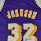 MAGIC JOHNSON   signed  AUTOGRAPHED  new  JERSEY