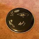 MOTLEY CRUE signed AUTOGRAPHED 12 inch DRUMHEAD