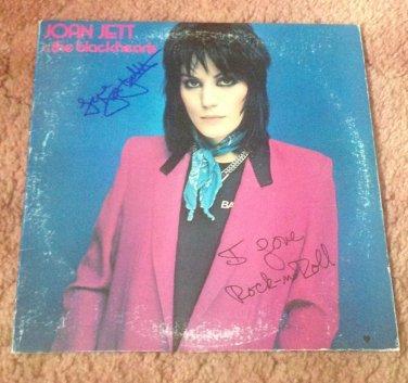 JOAN JETT   autographed Signed #1 RECORD vinyl
