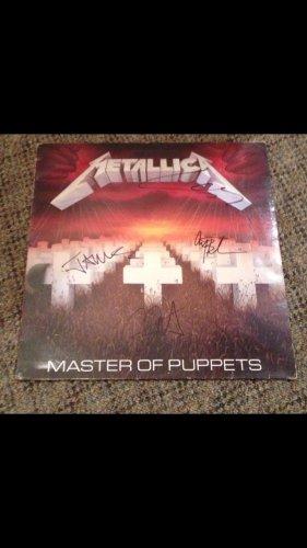 METALLICA   w/ cliff burton  AUTOGRAPHED signed RECORD vinyl