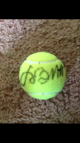 JIMMY BUFFETT  parrothead  AUTOGRAPHED signed TENNIS BALL