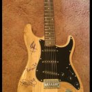 ROLLING STONES  w/bill wyman  AUTOGRAPHED signed  GUITAR