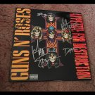 "GUNS N ROSES  signed AUTOGRAPHED "" appetite "" RECORD vinyl"