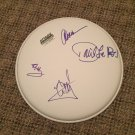 VAN HALEN w/roth  AUTOGRAPHED signed 12 inch DRUMHEAD !