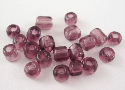 6/0  Glass Seed Beads Violet- 1oz