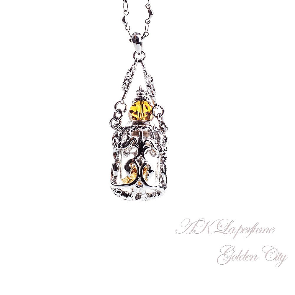 AK Fragrance essential oil bottle jewelry-Golden City