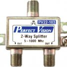 2-WAY VIDEO / CABLE TV COAX SPLITTER PerfectVision