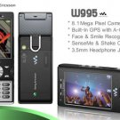 New Sony Ericsson w995 Black Unlocked AT&T Tmobile Fido Vodafone World Phone