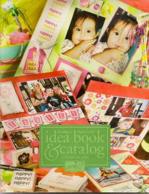 Stampin Memories Idea Book and Catalog - Stampin Up 2003- 2004