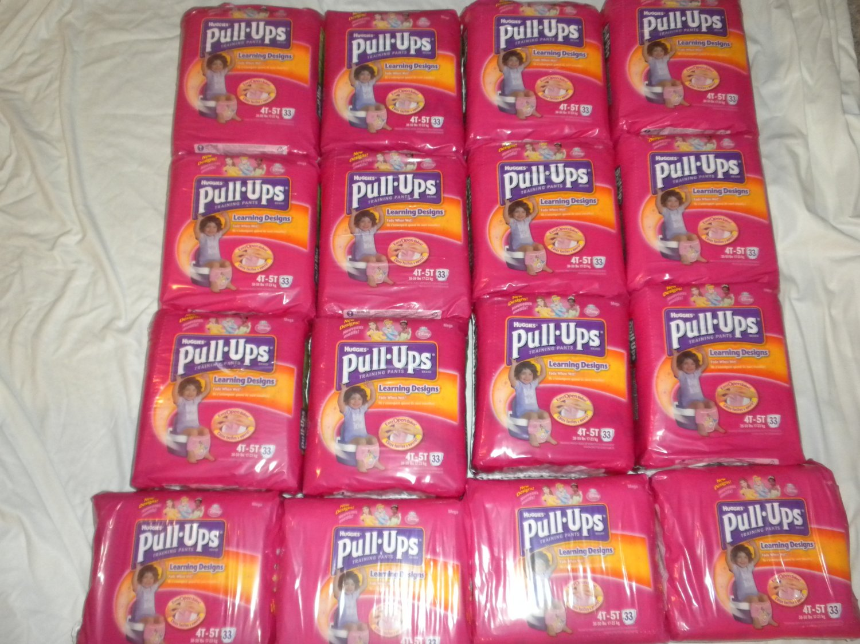 $10 PER BAG ~ 4T-5T GIRLS HUGGIES PULL-UPS LEARNING DESIGNS LOT