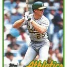 1989 Topps #70 Mark McGwire