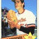 1985 Topps #709 Mike Boddicker