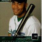 2003 Upper Deck First Pitch #30 Carl Crawford SR - Tampa Bay Devil Rays (Star Rookie / Prospect)(Bas