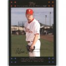 2007 Topps Update #102 Adam Eaton - Philadelphia Phillies (Baseball Cards)