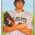 2010 Topps Heritage #369 Josh Johnson - Florida Marlins (Baseball Cards)