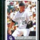 2007 Fleer #231 Aaron Cook (Rockies)(Baseball Cards)