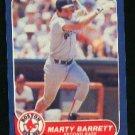 1986 Fleer #340 Marty Barrett