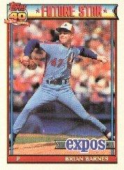 1991 Topps #211 Brian Barnes ( Baseball Cards )