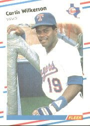 1988 Fleer 481 Curtis Wilkerson