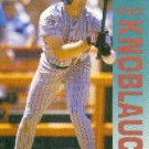 1992 Fleer 206 C.Knoblauch UER/Career hit total/of 59 is wrong