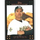 2007 Topps #614 Bob Geren MG - Oakland Athletics (Manager)(Baseball Cards)