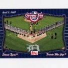 2007 Topps Opening Day Team Vs. Team Baseball #OD5 Toronto Blue Jays / Detroit Tigers Blue Jays / Ti