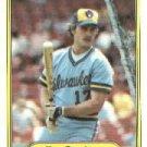 1982 Fleer 142 Jim Gantner