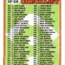 1988 Topps 528A Checklist 397-528/ERR (455 S. Carlton)