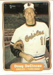 1982 Fleer 162 Doug DeCinces