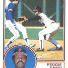 1983 Topps 282 Reggie Smith/(Ryne Sandberg/ducking back)