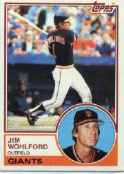 1983 Topps 688 Jim Wohlford