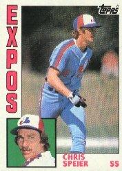 1984 Topps 678 Chris Speier
