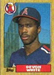 1987 Topps 139 Devon White