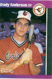 1989 Donruss 519 Brady Anderson RC