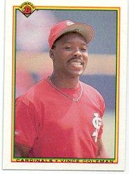1990 Bowman 198 Vince Coleman