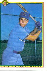 1990 Bowman 372 Brent Mayne RC