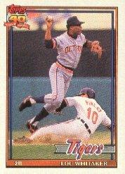 1991 Topps 145 Lou Whitaker